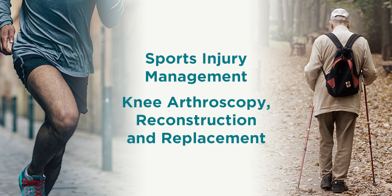 knee arthroscopy, reconstruction and replacement at the knee clinic to treat sports injury